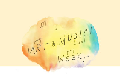 art and music week banner